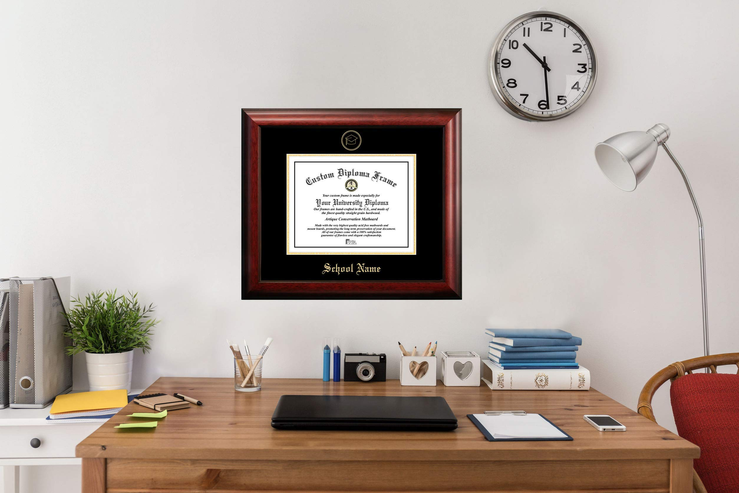 Campus Images TX960GED Texas Tech University Embossed Diploma Frame, 11'' x 14'', Gold