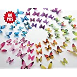 Amazon Price History for:Eoorau 60PCS Butterfly Wall Decals for Wall-3D Butterflies Wall Decor Removable Mural Stickers Home Decoration Kids Room Bedroom Decor