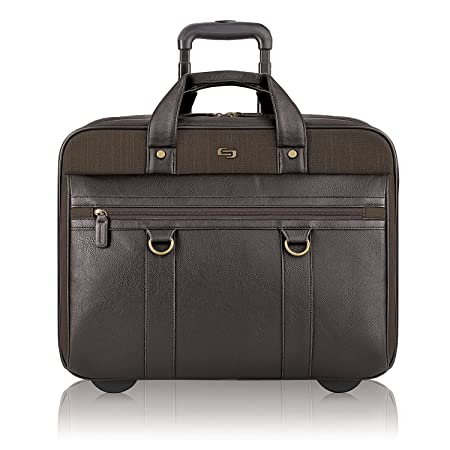 88a45b606c Amazon.com: Solo New York Macdougal Rolling Laptop Bag. Rolling Briefcase  for Women and Men. Fits up to 17.3 inch laptop - Espresso: Office Depot,  Inc.