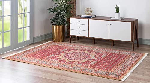 Unique Loom Palace Collection Traditoinal Geometric Classic Red Area Rug 3 3 x 5 3