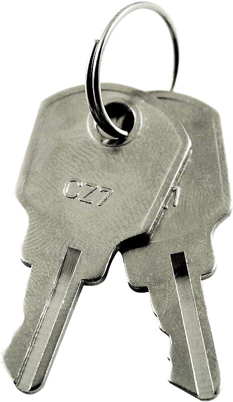 2 Stück GU Schlüssel in der Schließung CZ7 für Fenstersicherungen//Drehsperren