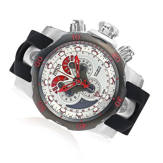 Invicta Venom Reserve Chrono Negro Poliuretano Silver-tone Dial 19515: Amazon.es: Relojes