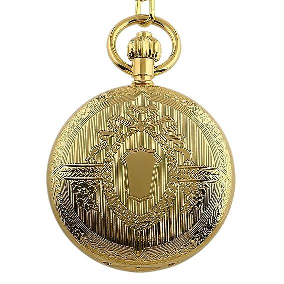 Carrie Hughes lujo todos los cobre Steampunk esqueleto mecánico reloj de  bolsillo con cadena f3f184d35787
