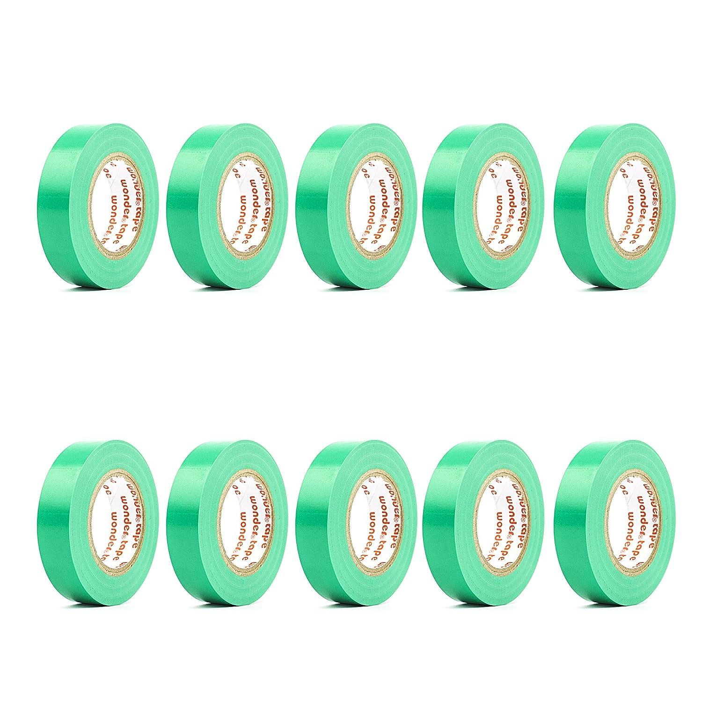 ビニール電気テープ/ PVC電気ワイヤ絶縁テープ/ 50ft長16 mm幅各1つ グリーン グリーン B01CNEGNJC