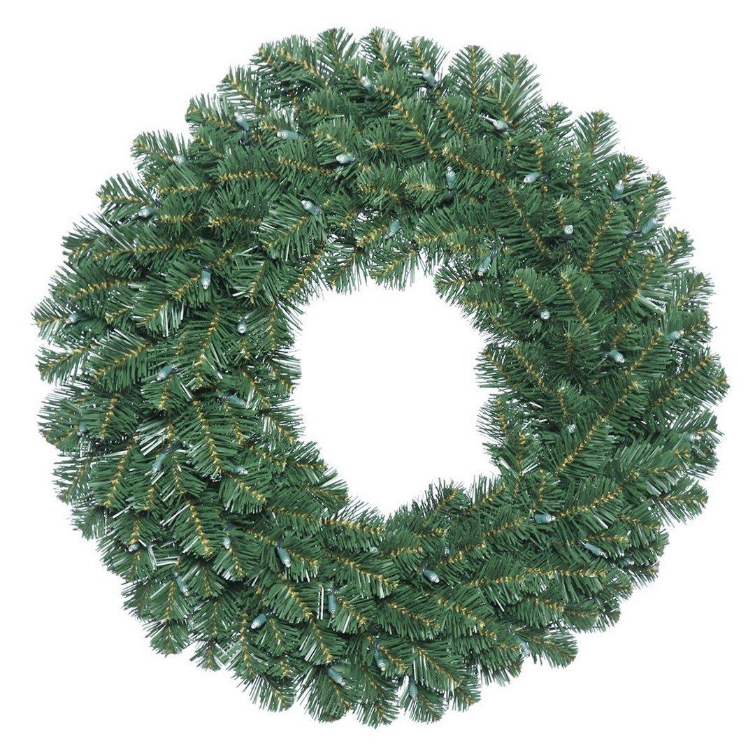 Vickerman C164636 Fir Wreath with 190 PVC Tips, 36'', Oregon