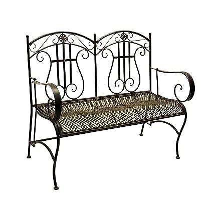 Groovy Amazon Com Jeco Qadir Black And Brown Iron Mid Century Spiritservingveterans Wood Chair Design Ideas Spiritservingveteransorg