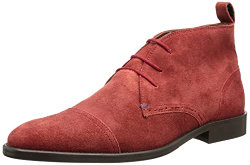 Tommy Hilfiger DALTON 3B - Botines desert de cuero hombre, color rojo, talla 41: Amazon.es: Zapatos y complementos