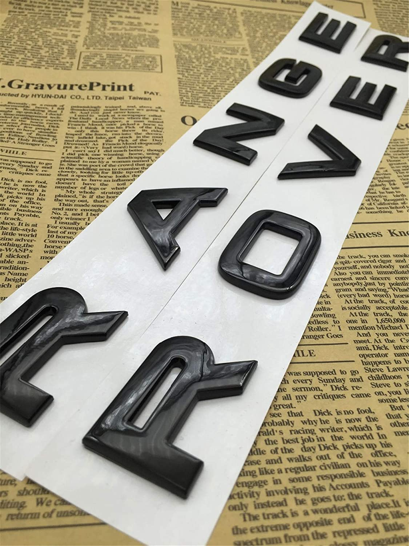CXYYJGY Letras de num/éro ABS Negro Brillante Mot Range Rover Insignia de ata/úd de Voiture embl/ème Letra autocollant