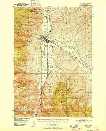 Amazon.com: YellowMaps Salmon ID topo map, 1:62500 Scale, 15 X 15 ...