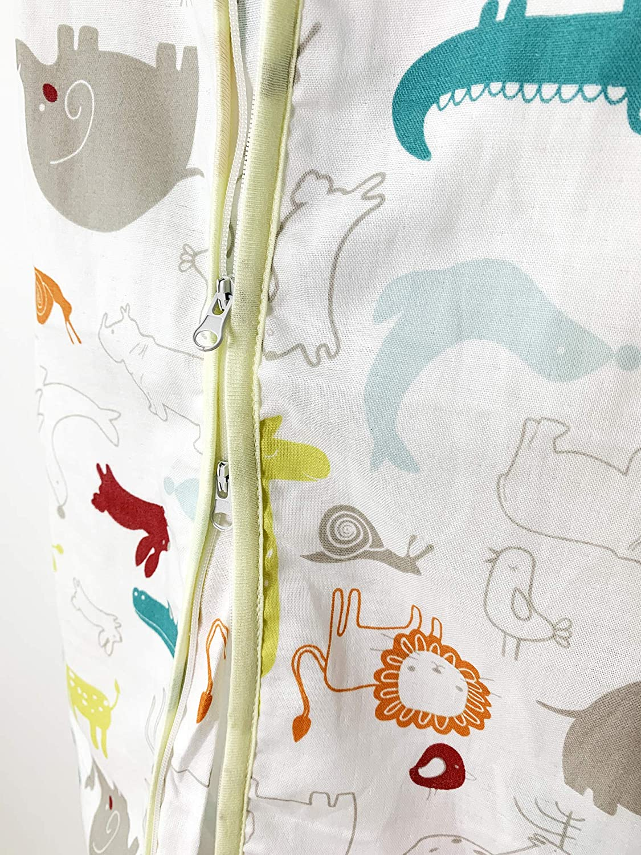 Breathable and Thin Sleep Sack Yellow, 6-18 months 0.5 TOG Summer Sleeping Bag Light Wearable Blanket MiniSteps Muslin Sleep Sack ORGANIC Cotton