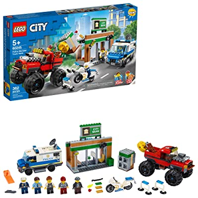 LEGO City Police Monster Truck Heist 60245 Police Toy, Cool Building Set for Kids, New 2020 (362 Pieces): Toys & Games