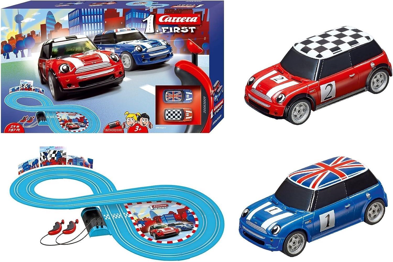 Carrera- Mini Cooper Juguete Circuito de Coches, Multicolor, (20063009)