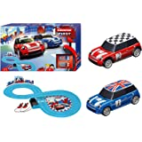 Carrera First Mini Cooper Slot Car Race Track - Includes 2 Cars: Blue and Red