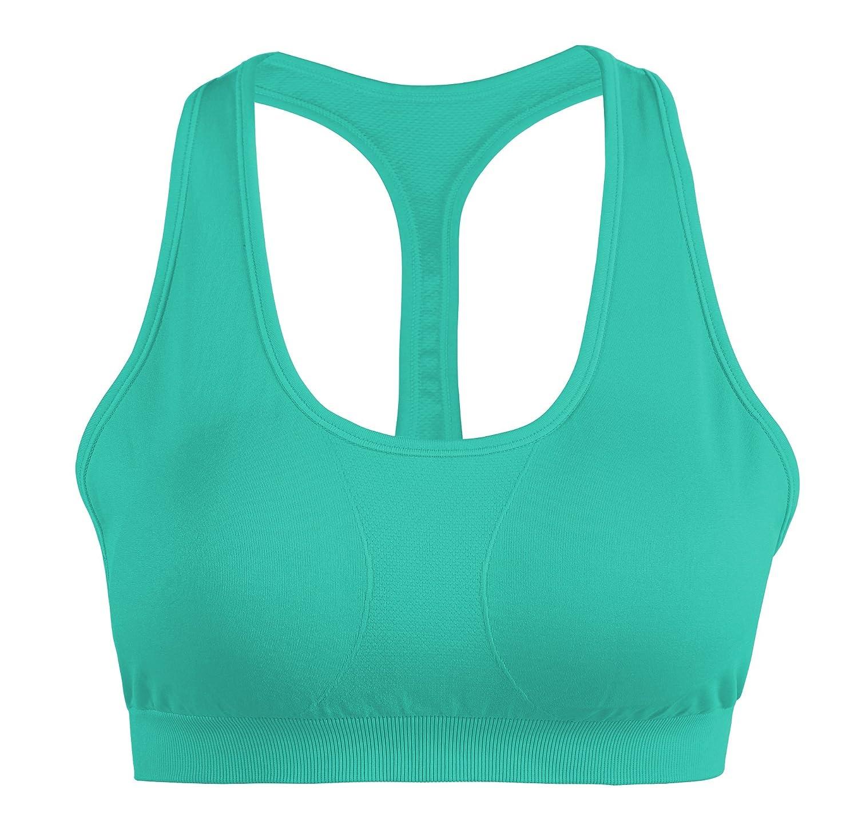DEBAIJIA Damen Sport BH Starker Halt Weich Schale Gepolstert Fitness Yoga Lauf Unterwäsche ohne Bügel Push Up Bustier
