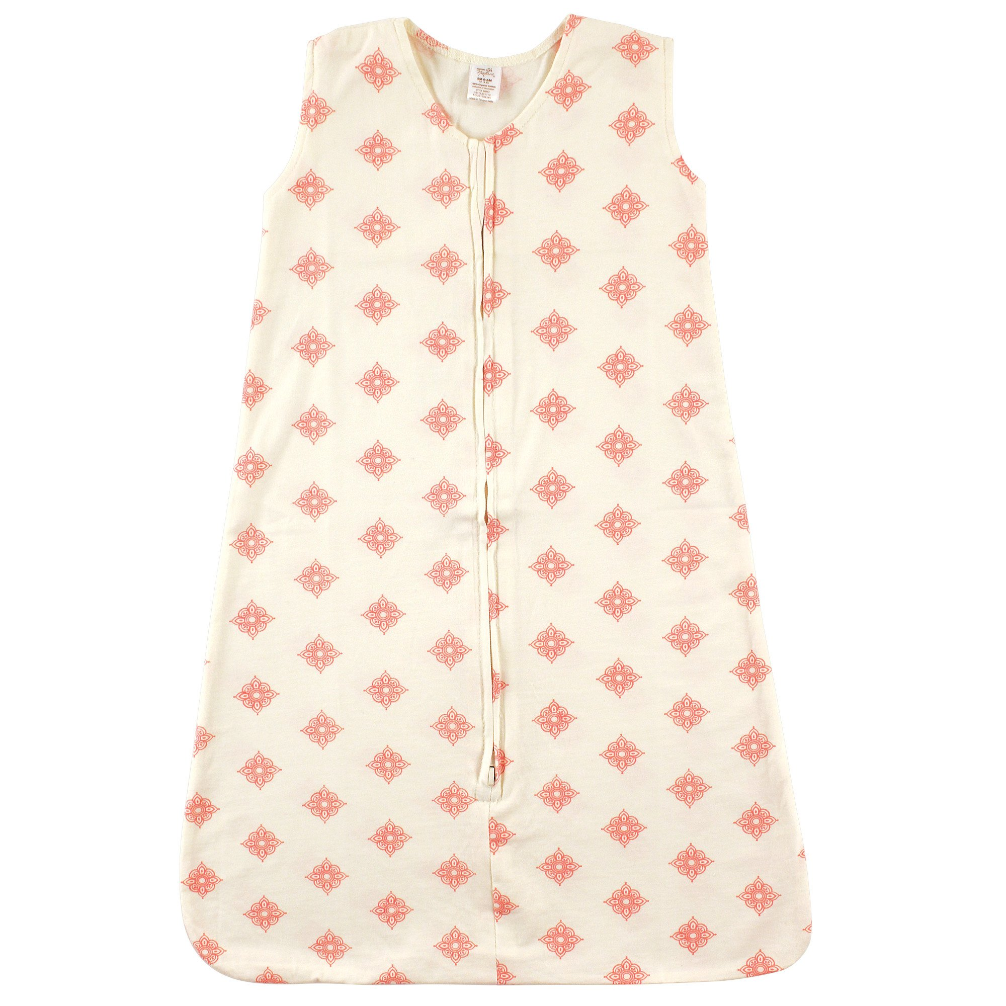 Touched by Nature Baby Organic Cotton Wearable Safe Sleeping Bag, Dainty Rosette, 18-24 Months