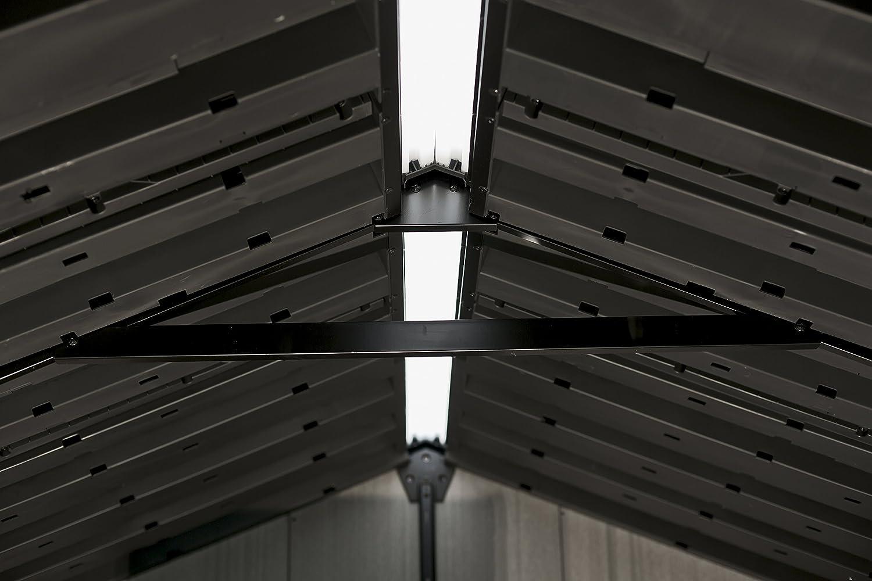 Keter Duo Tech Oakland 7511/dispositivo Jard/ín Casa pl/ástico dispositivos de aspecto de caseta Madera 229/x 350/x 242/cm