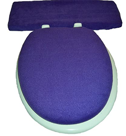 Fine Solid Purple Fleece Elongated Toilet Seat Lid And Tank Lid Cover Set Dailytribune Chair Design For Home Dailytribuneorg