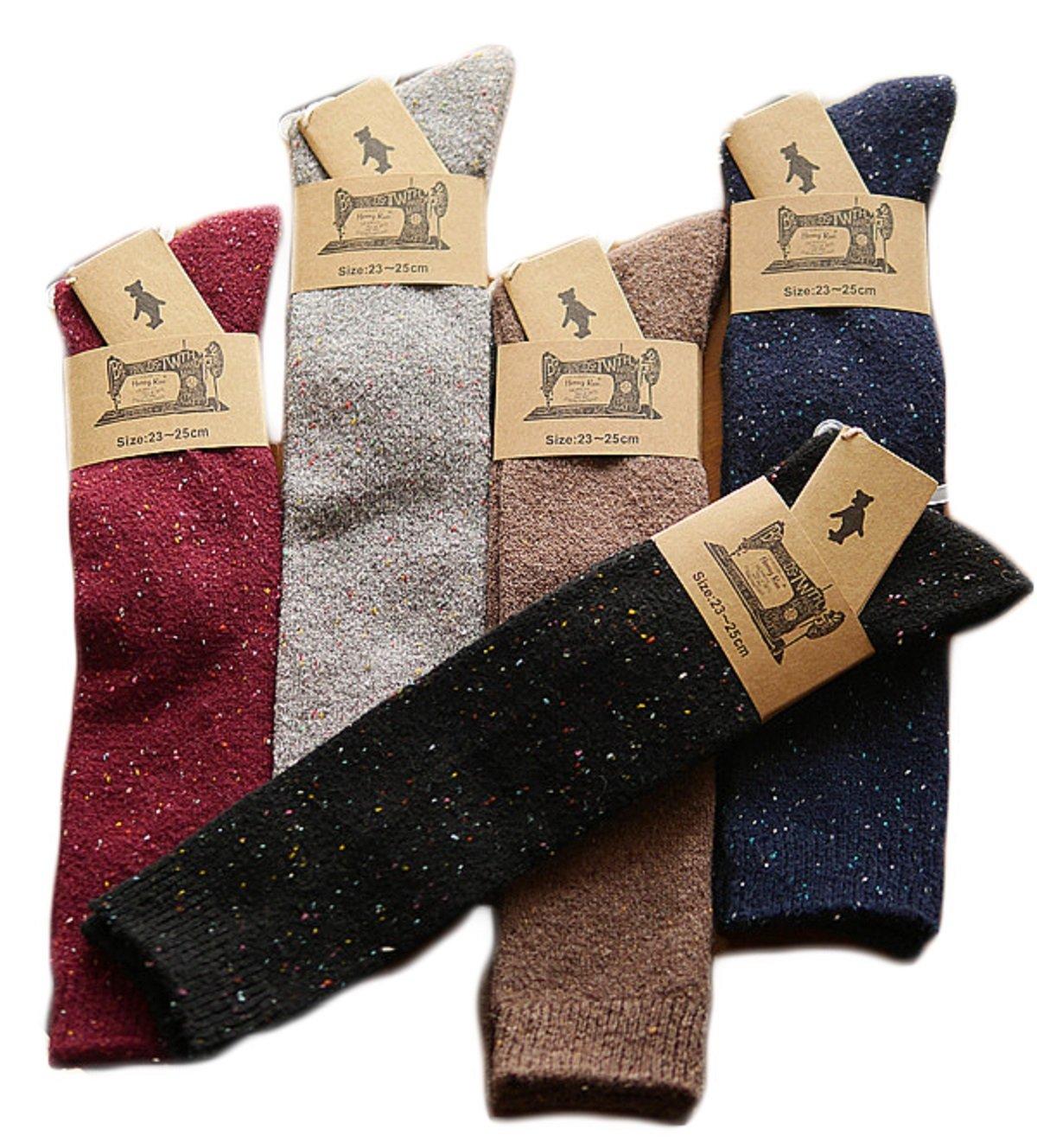Lian LifeStyle Women's Fashion Knee High Cotton Socks Size 7-9