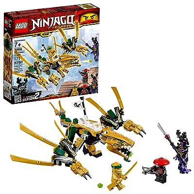 LEGO NINJAGO Legacy Golden Dragon 70666 Building Kit (171 Pieces): Toys & Games