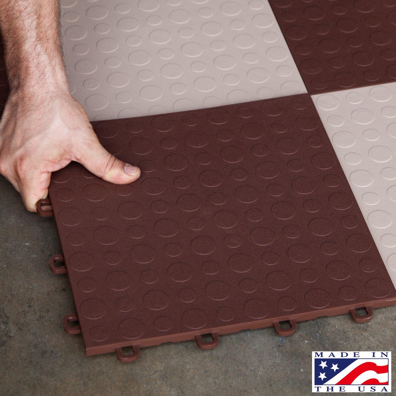 Amazon blocktile b0us5230 garage flooring interlocking tiles amazon blocktile b0us5230 garage flooring interlocking tiles coin top pack brown 30 pack home improvement dailygadgetfo Choice Image
