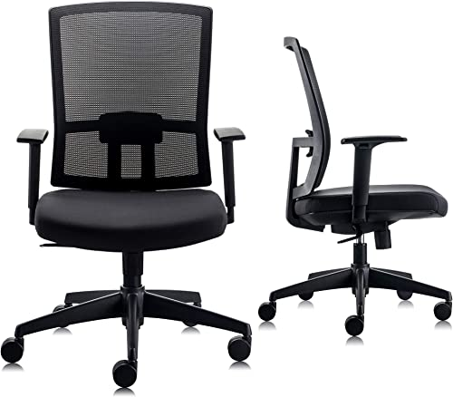 CHAIRLIN All Day Comfort Mesh Mid-Back Adjustable Multifunction Office Chair Ergonomic Computer Desk Chair