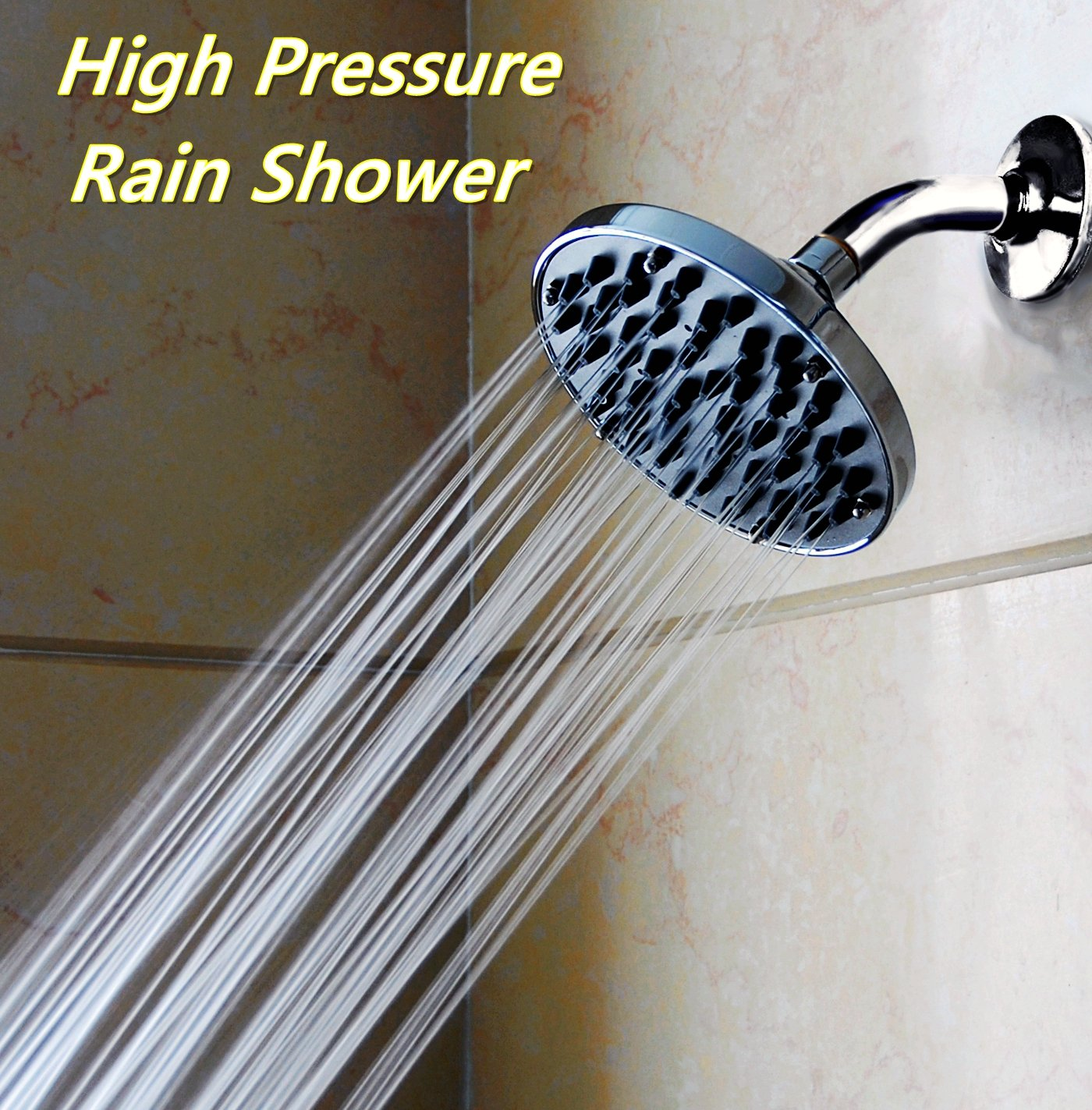 "WantBa Rainfall 6"" High Pressure Shower Head"