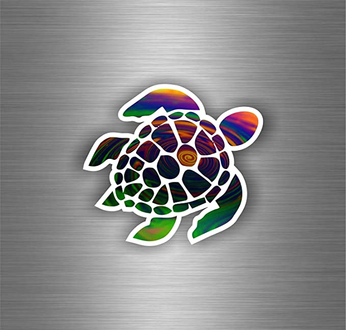 Akachafactory Selbstklebend Auto Motorrad Sticker Tuning Schildkröte Tribal Turtle Von Meer Jdm Bomb Auto