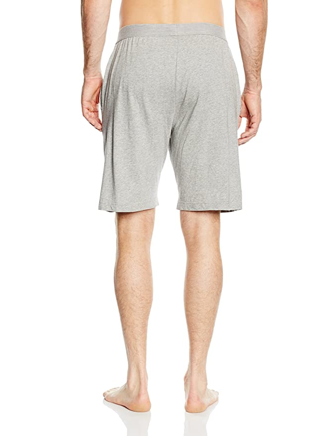 Tommy Hilfiger Icon Cotton Jersey Mens Lounge Shorts, Grey at Amazon Mens Clothing store: