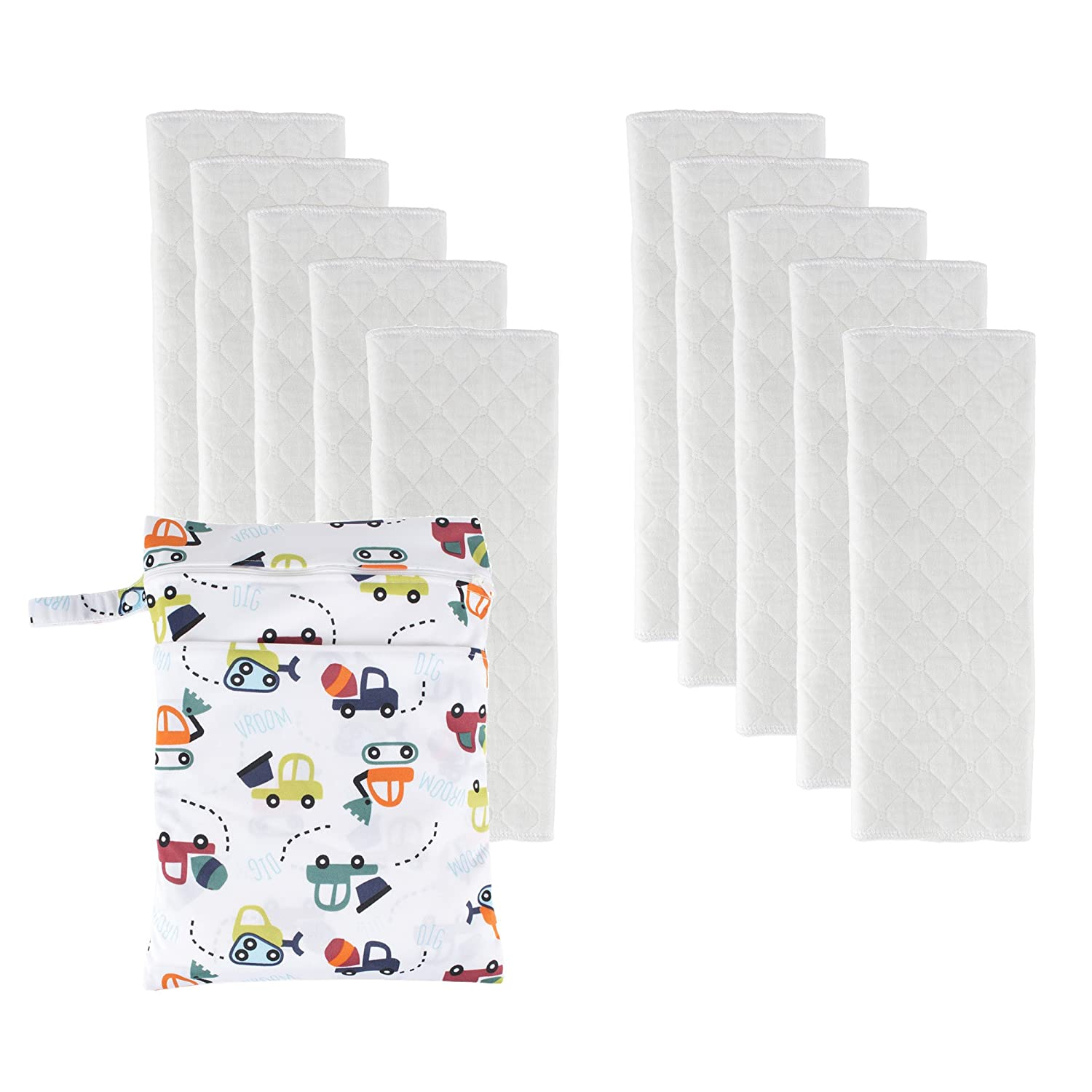 BIG ELEPHANT 8 Pack Baby Solid Color Reusable Cloth Pocket Diapers Pocket Nappies PD-04 NB01-A