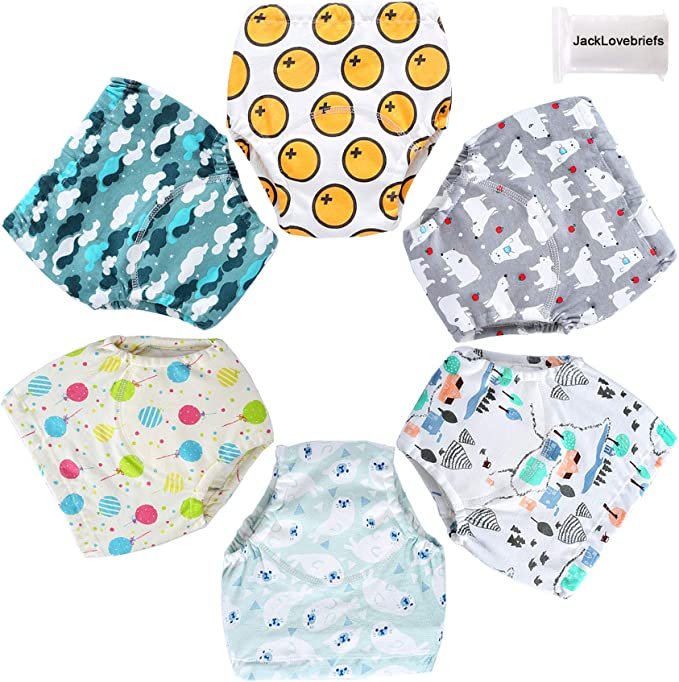 1T-4T 6 Pack Potty Training Pants for Boys Girls Learning Designs Training Underwear Pants