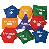 Fun Express Geometric Shaped Bean Bags-14 Pc - 14 Pieces - Educational and Learning Activities for Kids