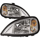 HEADLIGHTSDEPOT Chrome Housing Halogen Headlights Compatible With Freightliner Columbia 1996-2011 Includes Left Driver…
