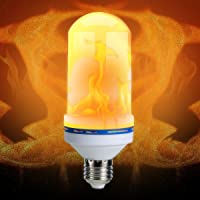 SoonHua 7W Creative LED Flame Effect Fire Light Bulbs