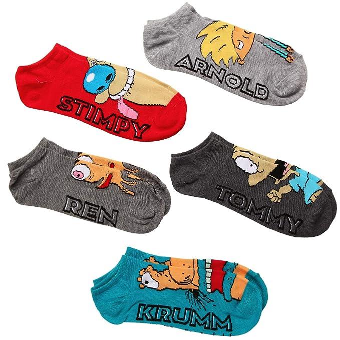 Nickelodeon Women's Nick the Splat 5 Pack No Show Socks