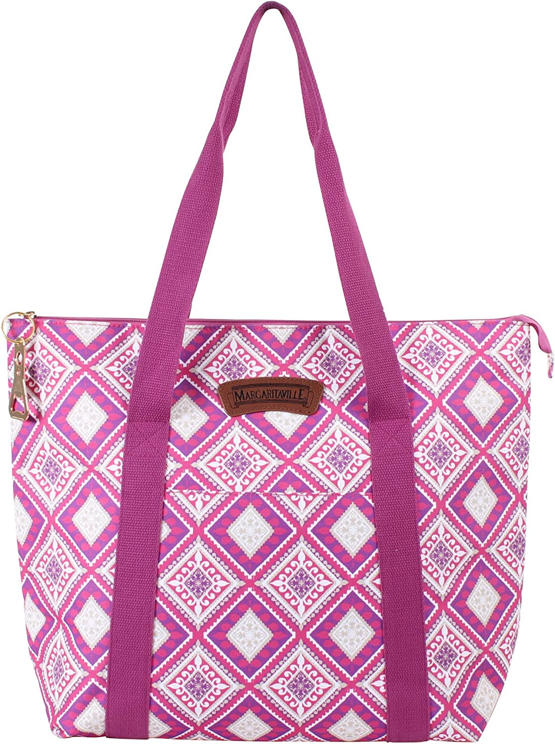 Margaritaville Insulated Large Tote for Women Great for Travel, Food and Drinks (See More Colors and Designs)