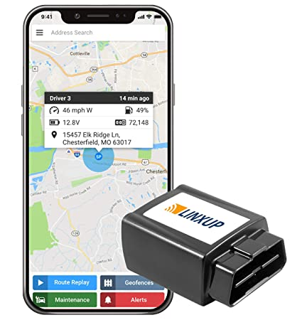 Fleet Tracking GPS - Linxup OBD Commerical Vehicle Mileage Tracker Real  Time 4G Locator for Cars, Trucks, Assets, Semis and Trailers
