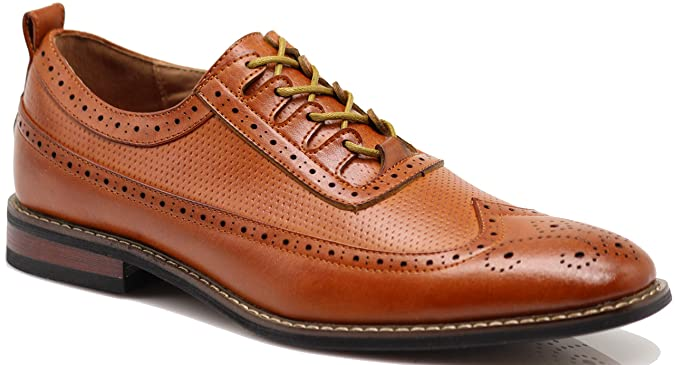 1950s Mens Shoes: Saddle Shoes, Boots, Greaser, Rockabilly Mens Dress Oxfords Shoes Italy Modern Designer Wingtip Captoe 2 Tone Lace Up Shoes $34.99 AT vintagedancer.com