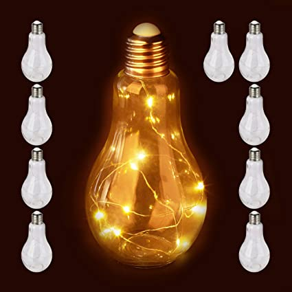 Relaxdays - 10 Bombillas Decorativas LED, lámpara de Mesa ...