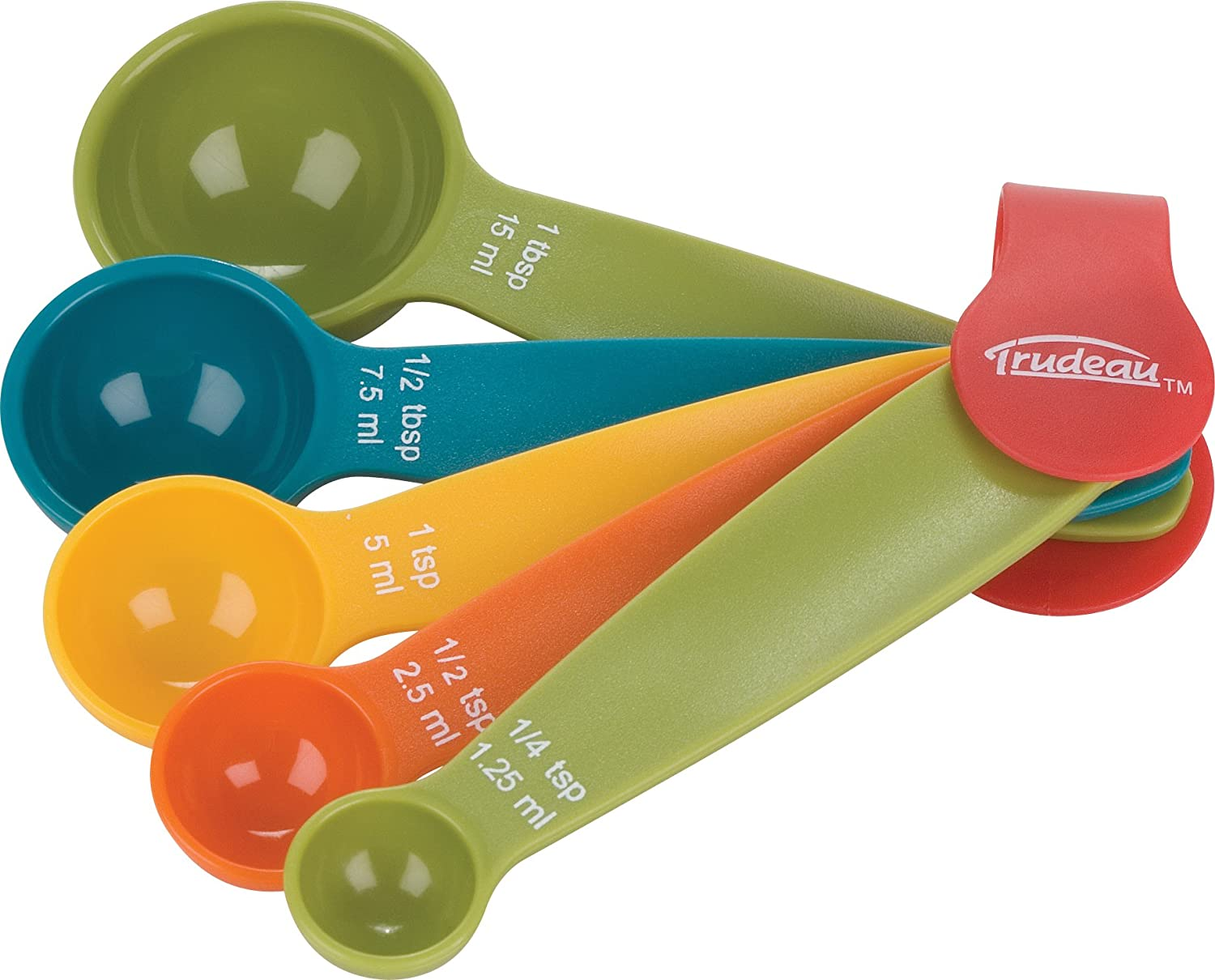 Decorative Measuring Spoons And Cups Amazoncom Trudeau Measuring Spoons Set Of 5 Kitchen Dining