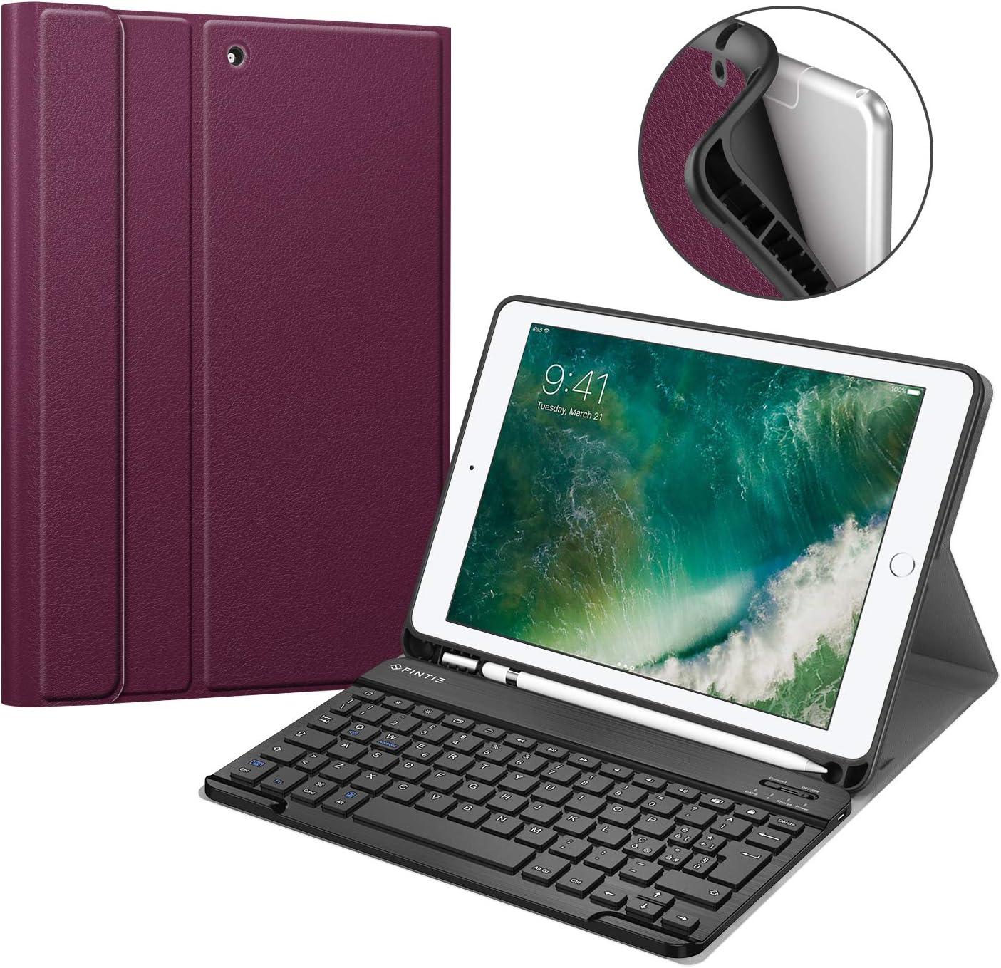 Funda con teclado Fintie para iPad 9.7 2018 (Violeta)