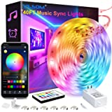 40 Feet Led Strip Lights, ViLSOM Smart APP Control with Remote Music Sync Led Lights for Bedroom, Room, Ceiling, Party…