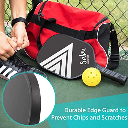 Amazon.com : Sabu Pickleball Paddle by Carbon Fibre Performance Series - Best for intermediate or Beginners, Indoor or Outdoor Bonus Gift - 2 Balls Included ...