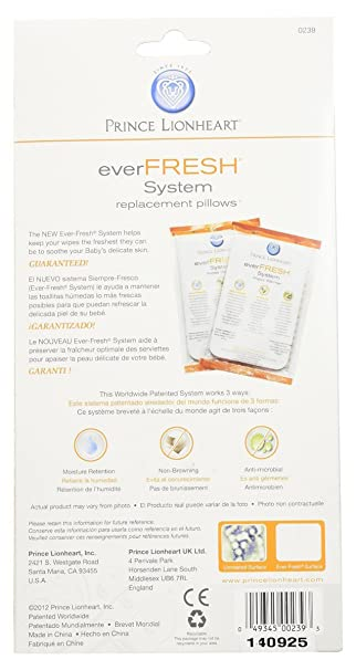 Amazon.com : Prince Lionheart Ever-Fresh Replacement Pillows for Ultimate Wipes Warmer, New : Baby
