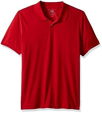Perry Ellis Hombres 4DSK7702 Manga Corta Camisa Polo - Rojo - X ...