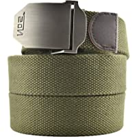 Meta-U- Canvas Belt- Web Belt- Military Style- Zinc Alloy Buckle- Easy Adjustment- Sturdy and Versatile- for Jeans   Chinos   Weekday Suits- 1 Pcs