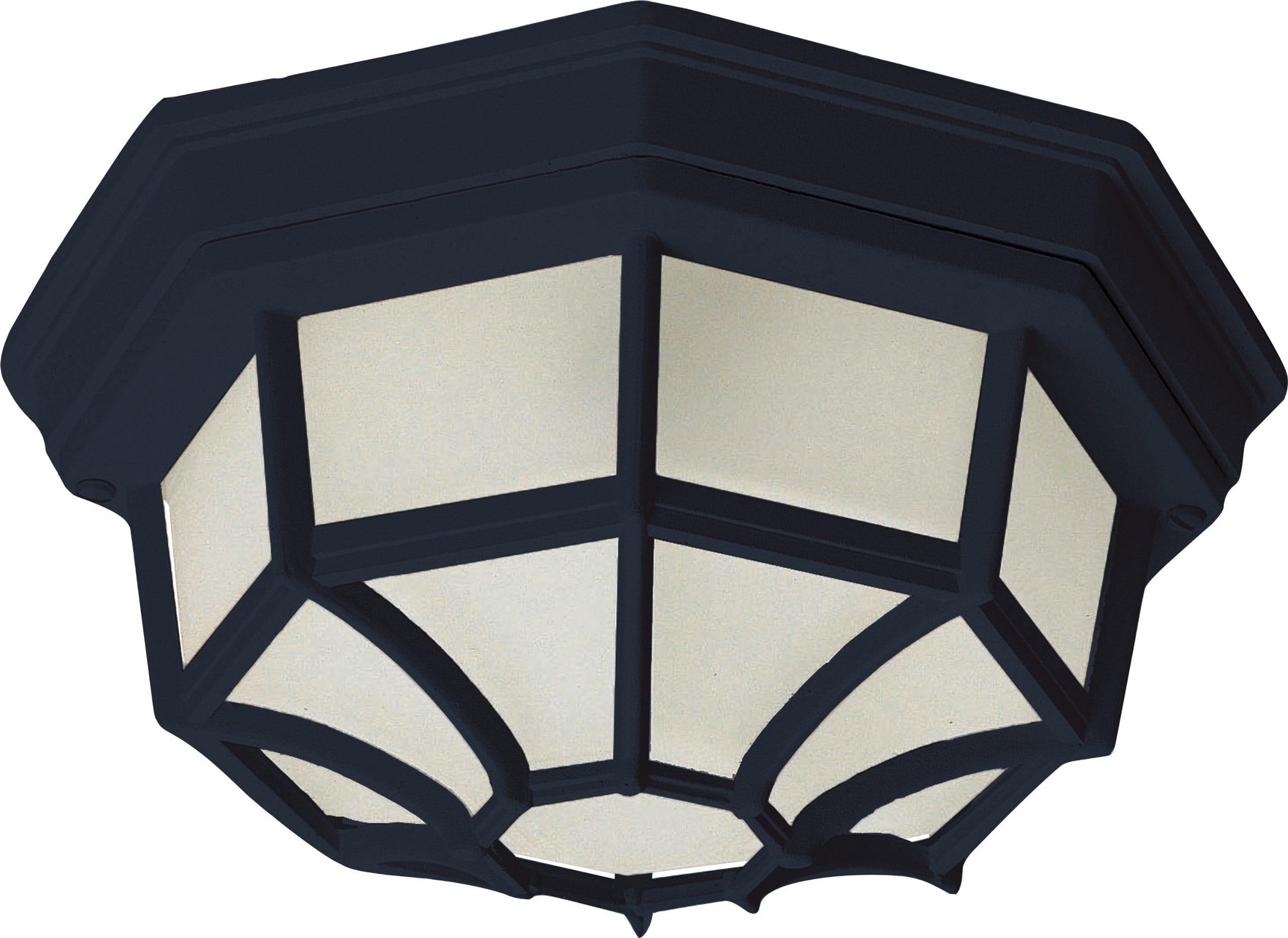 Maxim Lighting 57920 Outdoor LED Flush Mount, Black Finish, 11.5 by 4.5-Inch