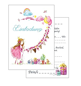 Berühmt Einladungskarten Kindergeburtstag: rosa Prinzessin &EC_48