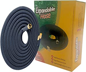 Expandable Garden Hose 100 Ft Long | Heavy Duty Water Hose | Expanding Hose| Retractable Hose for Gardening Flexible Water Hose with Solid Brass Fittings Flex Hose