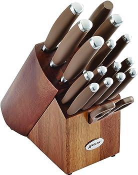 Anolond SureGrip 17-Piece Cutlery Knife Block Set