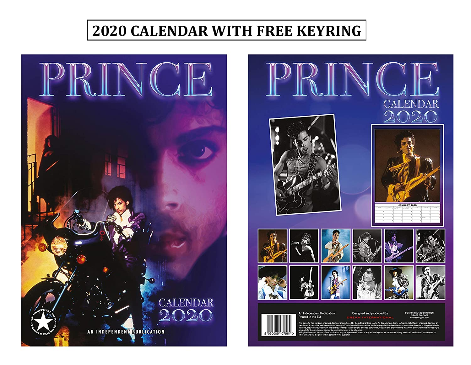 Prince Calendar 2020 Amazon.: Prince Calendar 2020 + Prince Keychain : Office Products